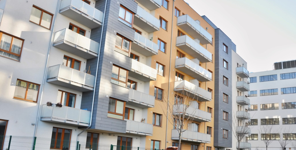 PRAGUE, CZECH REP., JANUARY 13 2015: building for living