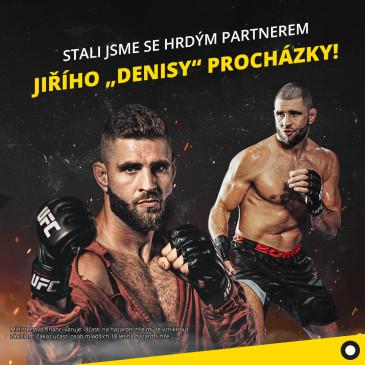 """Fortuna je partnerem Jiřího """"Denisy"""" Procházky. """"Chci s MMA na olympiádu"""" prozradil v podcastu Romana Kovaříka"""