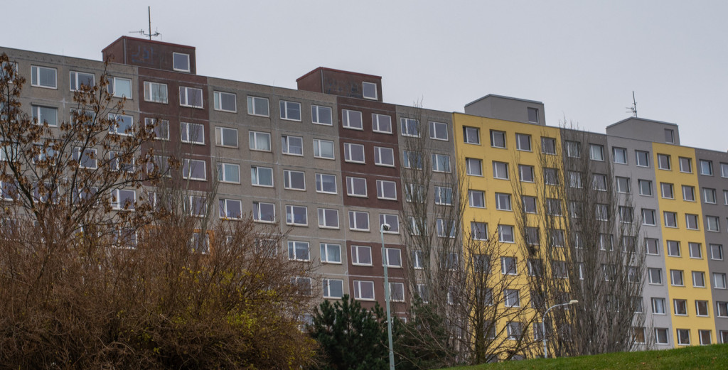 Prague. Czech Republic. 01/12/2020. Panelaks or buildings constructed with panels during communist regime in the Czech Republic, and in another countries in Eastern Europe. Part of the Estate Housing