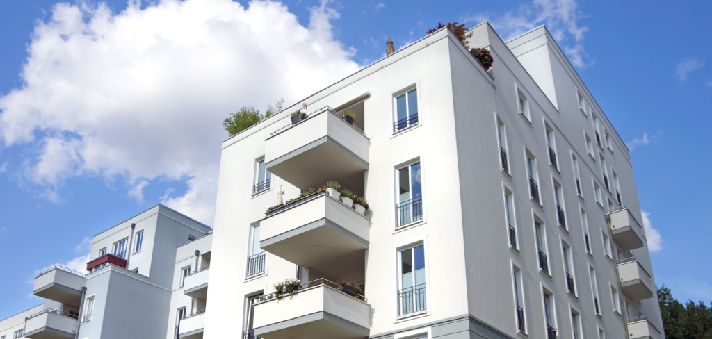 modern town houses, apartment buildings in berlin, germany